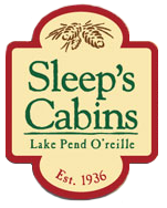 Sleeps Cabins Waterfront Vacation Rentals on the Lake in Sandpoint Idaho